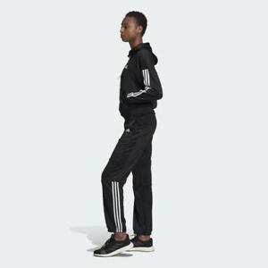 Adidas Womens size M Black AEROREADY Track Suit Hooded Jacket & Pants NEW