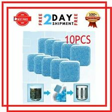 10 Count Washing Machine Cleaner Washer Deep Solid Cleaning Effervescent Tablets