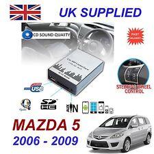 Para Mazda 5 2006 -09 MP3 Sd Usb Cd Aux Entrada Audio Digital Módulo de cambiador de CD
