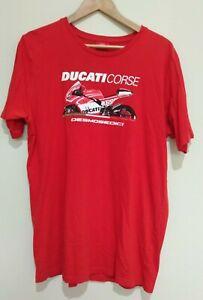 Ducati Corse Desmoseoici Red Cotton Motorbike Men's Short Sleeve T-Shirt Size M