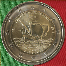2 Euro Münze Gedenkmünze Schiff Fernão Mendes Pinto Portugal 2011 unc - ST BU