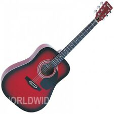 Falcon FG100R Dreadnought style guitare acoustique Rouge Vernis-NEUF
