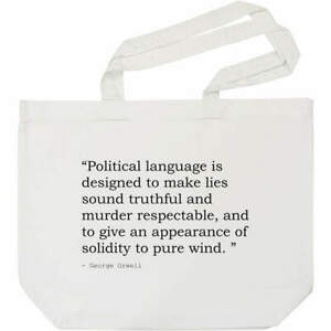 Quote By George Orwell Cotton Shopper Tote Bags (BG008215)