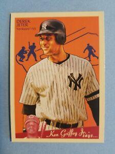 Derek Jeter Ken Griffey Jr New York Yankees 2008 Goudey #129 Baseball Card