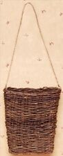 """New 7"""" WILLOW VINE WALL HANGING BASKET Twig French Country Cottage Primitive"""