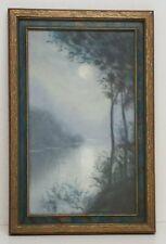 Antique Pacific Northwest Pastel Art Nouveau Framed 11x17