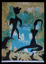 """1976 Limited Edition Lithograph  """"Song of Songs""""  Hand Signed - Rakia David"""