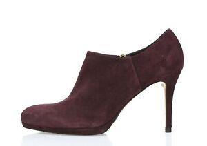 Womens L.K. Bennett dark purple suede ankle booties sz. 40 EU