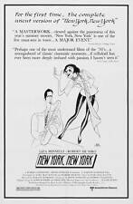 NEW YORK NEW YORK Movie POSTER 27x40 C Robert De Niro Liza Minnelli Lionel