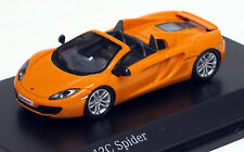 Minichamps 1/87 HO 2012 McLaren 12C Spider Metallic Yellow  877133031  US SELLER