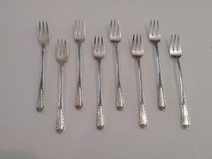 "Set/8 Towle LOUIS XIV Sterling Silver Cocktail Forks, Monog. ""B"""
