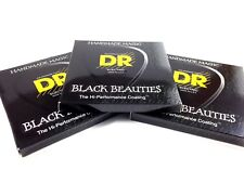 DR Guitar Strings Electric K3 Black Beauties High Performance 3 Packs 12-52