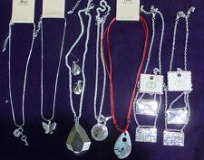 Lot of 10 Bulk Wholesale Fashion Jewelry Pendant & Earing/Necklaces Silvertone