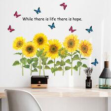 Girasol Adhesivo de Pared Vinilo Arte Mural Living Casa Habitación Decoración Eu