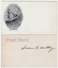 RARE Postcard - Women's Suffrage - Susan B Anthony ca 1904 - Signed?