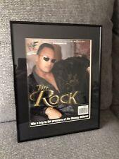 THE ROCK DWAYNE JOHNSON autograph signed Special Magazine WWE COA AEW Wrestling