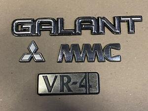 Mitsubishi Galant VR4 JDM Trunk Boot Badges E38A E39A MMC
