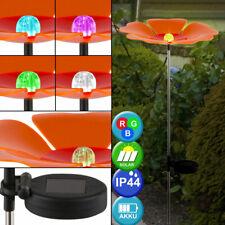 Luxe RGB LED Solaire Extérieur Zone Fiche Lampe Terrasse Fleur Orange Changement