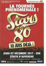 FLYER - STARS 80 :EN CONCERT PLASTIC BERTRAND LIO FRANCOIS FELDMAN CLERMONT 2017