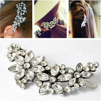 Crystal Comb Pin Wedding Flower Fashion Rhinestone Headband Bridal Hair Clip