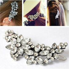 Crystal Comb Pin Wedding Flower Fashion Rhinestone Headband Bridal Hair Clip