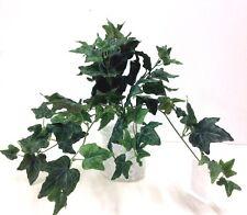"Silk Garden Ivy Greenery Hanging Bush. Dark Green. 16"" Long"