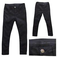 DAY BIRGER ET MIKKELSEN Women's Designer Waxed Black Skinny Jeans Size 8 UK