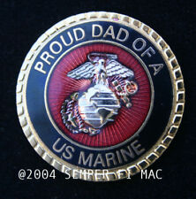 PROUD DAD OF A US MARINE HAT PIN UP BOOT CAMP SON DAUGHTER WM GRADUATION MR 1847