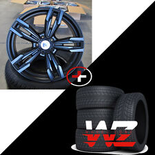 "19"" Wheels/Tires fits BMW 6 Series 7 Series M6 Sport Style 433 F12 Rims Black"