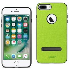 iPhone 7/6/6S Plus Case Rugged Texture TPU Protective Cover with Kickstand Green