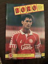 1991 Middlesbrough V Bournemouth Football Programme