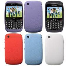 Genuine RIM en relieve y Llano suave piel caso para BlackBerry Curve 8520 9300 3G