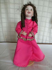 "Hand crafted 14"" full porcelian doll 1980'S"