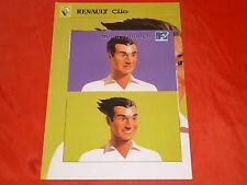 """Renault clio """"MTV"""" spécial modèle prospectus de 2000"""