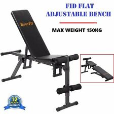 FID Flat Adjustable Powder Coated Steel Waterfool PU Material Bench 150kg