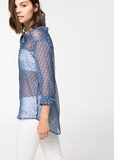 Woman tie print top,shirt,blouse  size XS UK 6 ,mango .,.