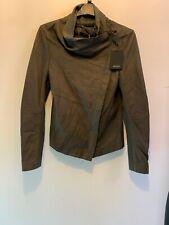 Muubaa Seal Grey Leather Suede Jacket UK Size 6 BNWT Read Description