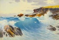 Warren Williams - Large Watercolour Painting - The Royal Charter Rocks, Anglesey