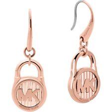 Michael Kors MKJ6815791 Hamilton Logo Rose Gold Tone Drop Ladies Earrings