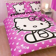 Hello Kitty Coeurs Double Panneau Housse de couette bed set nouveau cadeau rose
