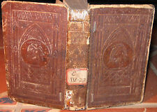 RARE 1833 COURSE OF TIME Robert Pollok GOD POEM Emossed CATHEDRAL ANGEL Leather