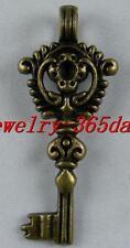 18pcs Bronze Color Nice Key Pendants 46.5x20x4mm 8513