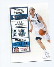 2010-11 Playoff Contenders Patches DIRK NOWITZKI