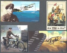 Jersey -World War I min sheets complete collection(10)Parts I - V-Military