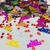 Just Married CONFETTI TABLE SPRINKLES Multi COLOUR TABLE DECORATIONS Wedding