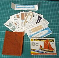 1950s Vintage Original Micromodels S11 Thames Sailing Barge & Canal Narrow Boat