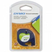 DYMO LETRA TAG etichette-band 12 mm X 4 M, carta, bianco