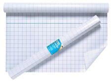 5 LIBRO Copertina Film 50cmx10m appiccicoso posteriore in plastica trasparente autoadesivo Griglia esercizio