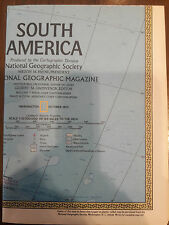 """1972 NATIONAL GEOGRAPHIC MAGAZINE 30"""" X 22"""" MAP OF SOUTH AMERICA 00064"""