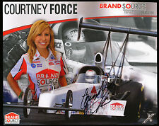 Courtney Force Autographed/Signed Photo - Brand Source Top Alcohol Dragster
